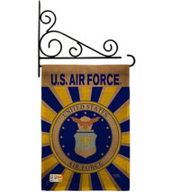 Air Force Burlap - Impressions Decorative Metal Fansy Wall Bracket Garde... - $36.97