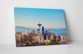 """Seattle Daytime Skyline Gallery Wrapped Canvas Wall Art 30""""x20"""" or 20""""x16"""" - $44.50+"""