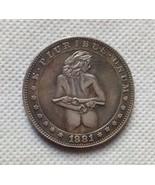 New Hobo Nickel Coin 1881-CC Morgan Dollar Sexy Woman Guns - $11.99