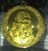 Mother's Day Sterling Silver w/ 24K Plating Pendant Charm (Franklin Mint... - $45.60