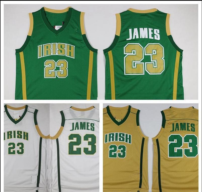 1368710a5a1 LeBron James St. Vincent St. Mary Irish High School Basketball Jersey  Vintage