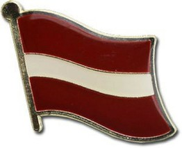 Wholesale Pack of 50 Latvia Country Flag Bike Hat Cap lapel Pin - $74.88