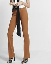 New $80 EXPRESS Caramel STUDIO STRETCH BARELY BOOT Columnist PANTS SZ 6R - $31.49