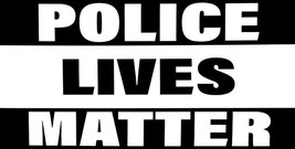 Wholesale Lot of 6 Police Lives Matter Black & White Decal Bumper Sticker - $13.88