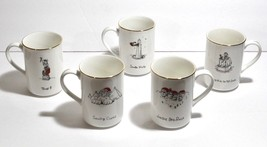 5 Christmas Coffee Mugs Merry Masterpieces US Landmarks Holiday Cups Vin... - $14.50