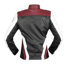 Womens Avengers Endgame Costume Quantum Realm High Tech Maroon Leather Jacket image 3