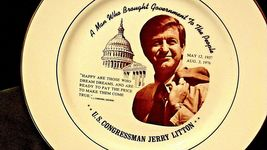 U.S. Congressman Jerry Litton Commemorative Plate AA20-CP2235 Vintage May 2, 193 image 6