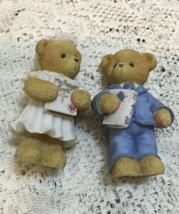 Two Enesco Precious Teddies Discontinued Bear Figurines Communion Avon E... - $6.00