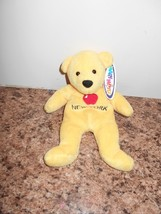 NWT MARY MEYER YELLOW APPLE NEW YORK BEAN BAG BEAR PLUSH CUTE - $5.54