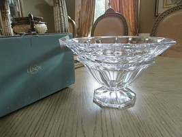 """LENOX CRYSTAL AVANTI 10.25"""" FOOTED BOWL 1998  MADE IN AUSTRIA MINT IN BOX - $49.45"""