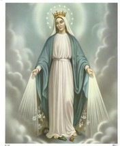 "Catholic Print Picture OUR LADY OF GRACE Blessed Virgin Mary 8x10"" - $14.01"