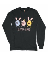 Easter King Long Sleeve T-shirt Egg Tapping Happy Easter Holiday Jesus i... - $16.41+