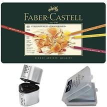 Faber Castell Premium Polychromos 60 Color Pencil Set, with BONUS Trio Pencil Sh - $102.80