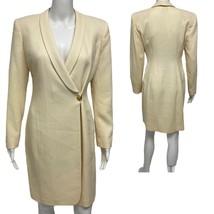 Vintage Hugo Buscati Milano women's long blazer asymetrical wool size 4 - $26.07