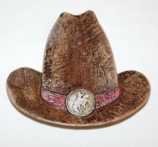 Rustic Ceramic Cowboy Hat Western Shaped Dish