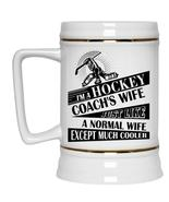Married Beer Stein 22oz, I'm A Hockey Coach's Wife Beer Mug - $26.99