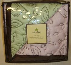 Baby Gap Jungle Pink Green Organic Reversible Crib Quilt Blanket NEW Retail $85 - $16.78