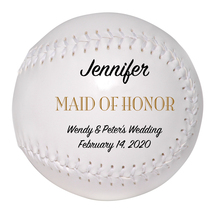 Maid of Honor Custom Softball Wedding Gift - Personalized Wedding Favor - $34.95