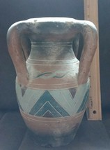 Beautiful Native American style ornamented about 9.5 inch clay vase/pitcher - $19.99