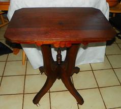 Solid Walnut Eastlake Lamp Table / Parlor Table - $499.00