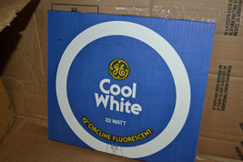 "12  GE 32 Watt 12"" Circline, 4-Pin Base, Cool White Fluorescent FC12TP/C... - $44.54"