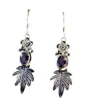 jaipur 925 Sterling Silver inviting Natural Purple Earring gift UK - $22.28