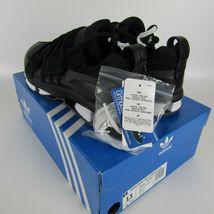 Adidas Twinstrike Adv Elástico Cuero Casual Zapatos Negros Blanco B28015 Size 13 image 4