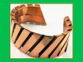 """Vintage Flaming Vintage RENOIR Copper Cuff Bracelet! 6.75"""" Loaded 48 Grams - $205.70"""