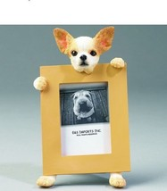 """CHIHUAHUA TAN DOG PHOTO PICTURE FRAME GIFT RESIN 2-1/2""""X3-1/2"""" - $14.95"""