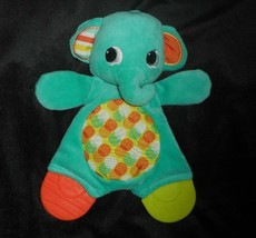 BABY BRIGHT STARTS GREEN ELEPHANT CHEW / TEETHER BLANKET STUFFED ANIMAL ... - $17.77