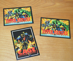 1993 Marvel Crunch 'N Munch Trading Card Lot of 3 Comics Luke Cage Premiums - $5.19
