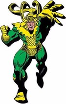 Marvel Comics Loki Comic Art Figure Running Chunky 3-D Die-Cut Magnet NE... - $5.94
