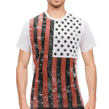 Men's USA American Flag Casual Cotton Shirt Summer Beach Patriotic T-shirt image 2