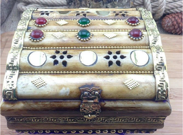 JEWELRY BOX CASE, MADE BY CAMEL BONES RARE AND UNIQUE - 15 x 15 x 8,5 cm - €84,84 EUR