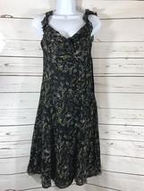 Women's Nine West Sz 4P Black Floral Sleeveless Sun Dress - $10.40
