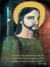 Political Poster.Colombia rebel priest Camilo Torres.Inspirational quote... - $9.90+