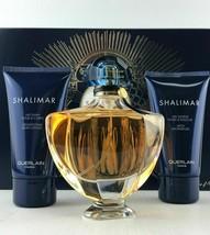 Shalimar 3PC Set 3.0 Edt Spra+ Lotion 2.5 Oz + Gel 2.5 Oz By Guerlain For Women - $84.99