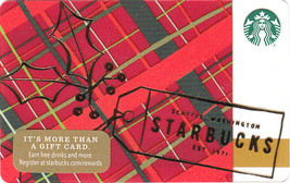 Starbucks 2016 Holiday Plaid Collectible Gift Card New No Value - $3.99