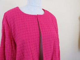 CHICO'S  Embroidered Blazer Jacket 3/4 Sleeve Women's Size 3 Pink - $24.70