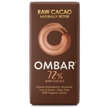 Ombar Dark 72% Raw Chocolate Bar 35g - $6.65