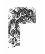 Alice In Wonderland Giclee Print From Sir John Tenniel- The Cat grinned... - $12.74
