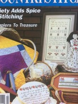 Country Stitch Magazine Jan/Feb 1992 Projects Charts Quilt Wedding Samplers - $3.99