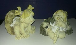 "2) Vintage 1995 Ganz PLAYFUL RASCALS Figurines ~ ""Hide & Seek"" and ""Napt... - $1.97"