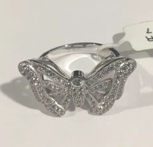 Sterling Silver Women's Butterfly Cocktail Ring With cz Stones - $82.28