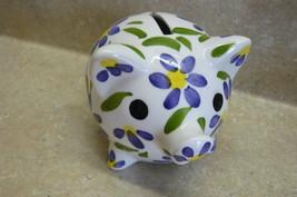 Animal Purple Flower Pig Bank  #101 - $17.99