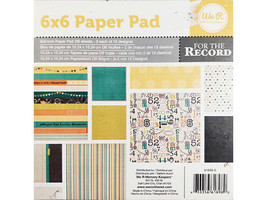 We R Memory Keepers For the Record 6x6 Inch Paper Pad #61898-0