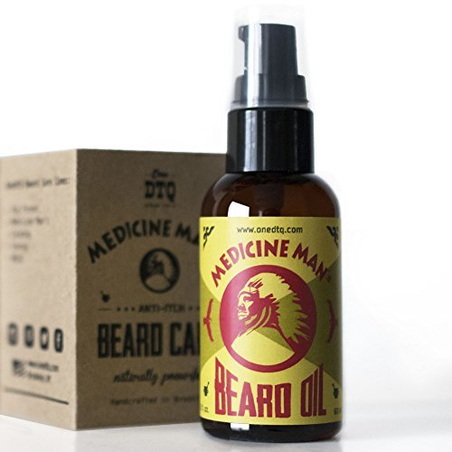 Medicine Man's Anti-itch Beard Oil 2 FL OZ - 100% Natural & Organic Leave-In Con