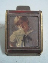 ANTIQUE VERY UNUSUAL DESKTOP CLIP IN METAL WITH A PLACE FOR PHOTO - $27.76