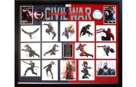 Captain America - Civil War Cast Signed Photo Collage Poster in Framed Case - $4,945.05