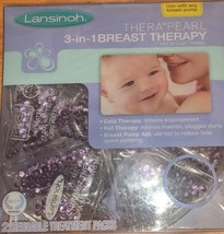 Lansinoh TheraPearl 3 in 1 Breast Therapy Reusable Treatment Packs Hot O... - $10.88